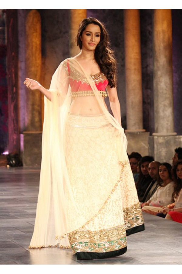 Bollywood Replica Shraddha Kapoor Beautiful In Pink And Beige Lehenga 268 Cm Vol 6 Special268 23374 600x900a