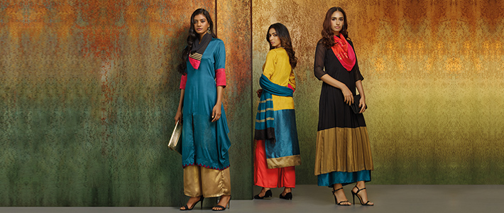 Kaleido Kurtas – Up your color-blocking game this festive season!