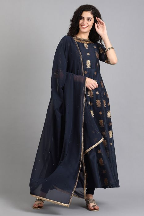 navy-blue-round-neck-embellished-kurta-set
