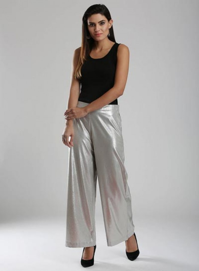 Silver Shimmery Pants